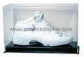 acrylic perspex shoes display case
