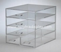 clear custom  acrylic makeup organizer