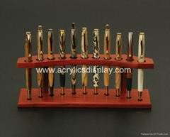Wooden Pen Stand display