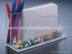 acrylic stationery organizer