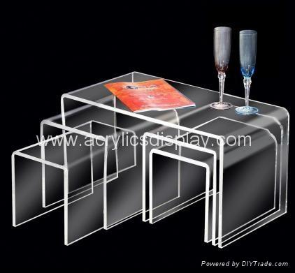 acrylic nesting table coffee table