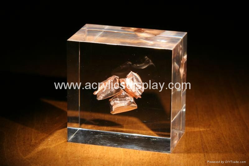 acrylic paper weight acrylic embedment