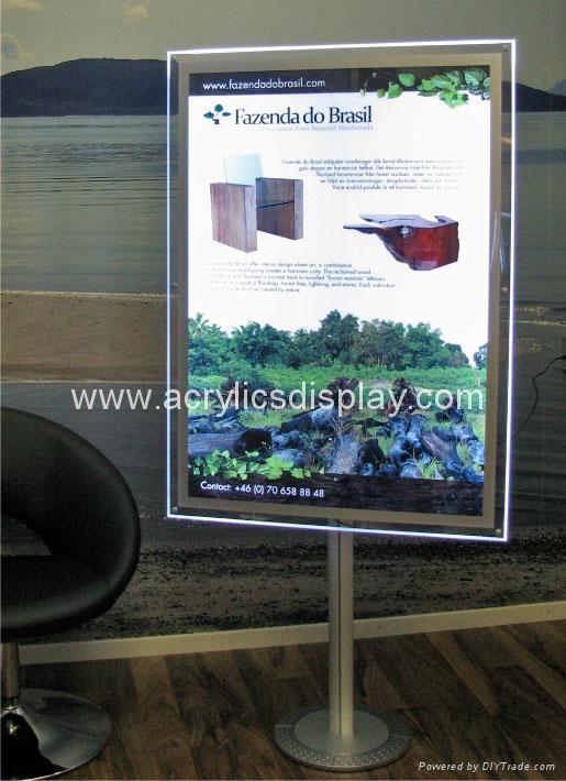 acrylic LED poster display LED poster frame