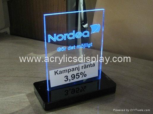 Acrylic Led Menu Stand Led 04 Tw China Manufacturer