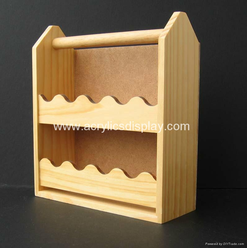 wooden display stand holder