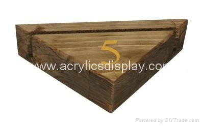 Wooden Menu Display Holder Block China Manufacturer
