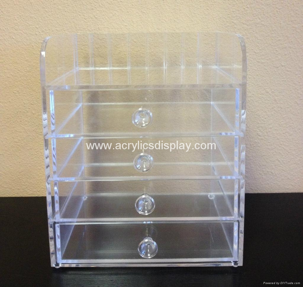 acrylic cosmetics organizer