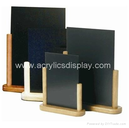 Acrylic Wood Table Tents Of Wooden Base China Manufacturer Table - Wooden table tents