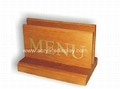 acrylic wood table tents of wooden base