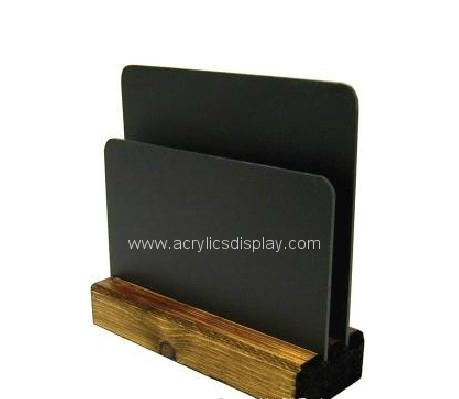 wooden acrylic menu stand