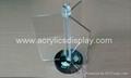 acrylic rotating menu holder