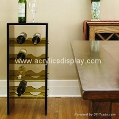 acrylic wine shelf holder