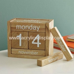 wooden calendar display stand