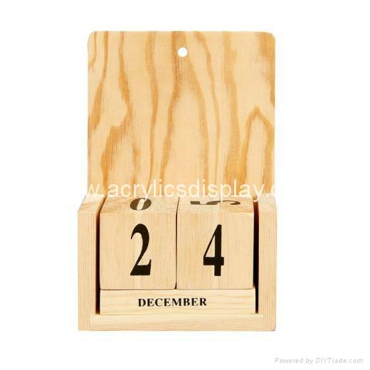 Calendar Wood Stand : Wooden calendar display stand wf tw china
