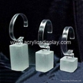C shape acrylic watch holder