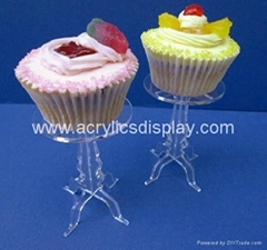 plastic acrylic pastry display stand