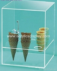 acrylic ice cream display holder