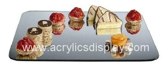 mirror acrylic tray food tray