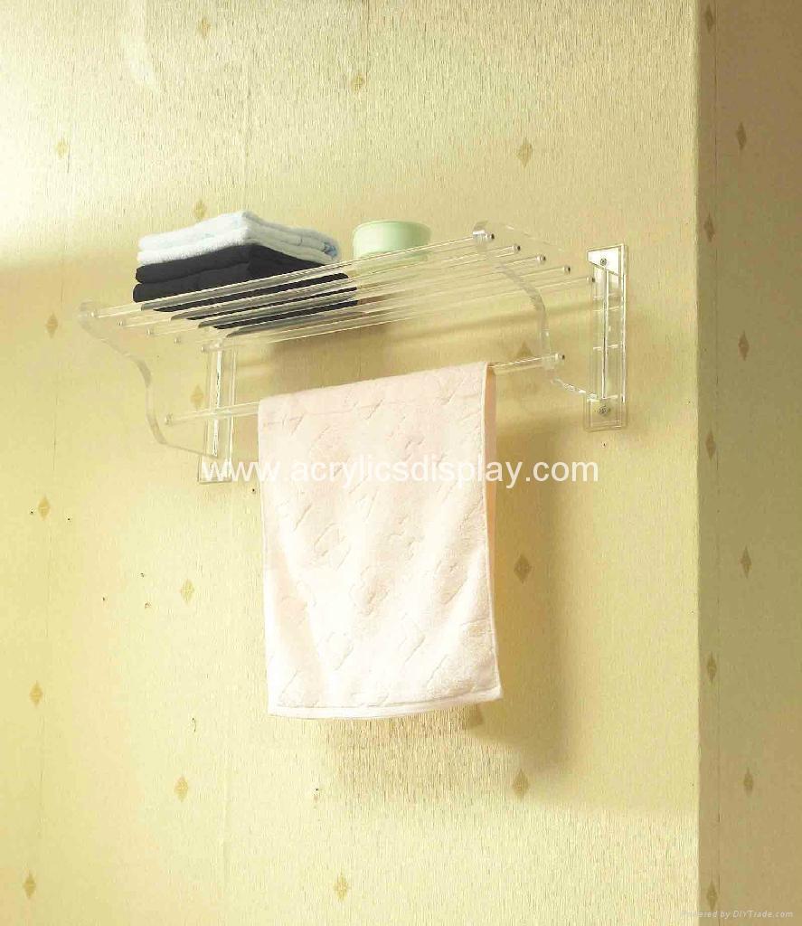 wall mounted acrylic bathroom shelf