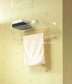 wall mounted acrylic bathroom shelf