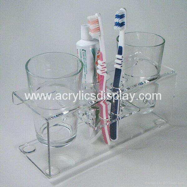 acrylic toothbrush holder display