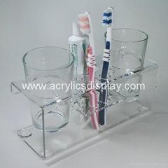 acrylic toothbrush holder display