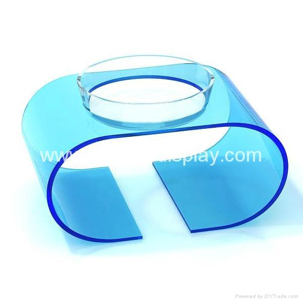 plastic lucite acrylic pet bowl