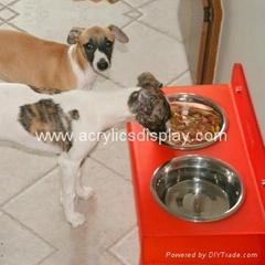 acrylic pet feeder