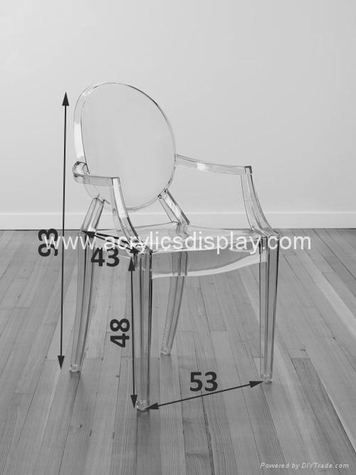 acrylic armchairs