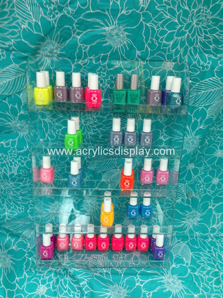 acrylic wall nail polish dispenser