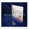 acrylic perspex menu stand