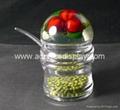 acrylic spice rack plastic container