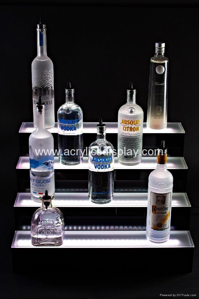 LED acrylic bottle display