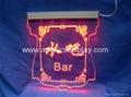 acrylic LED display sign LED logo sign