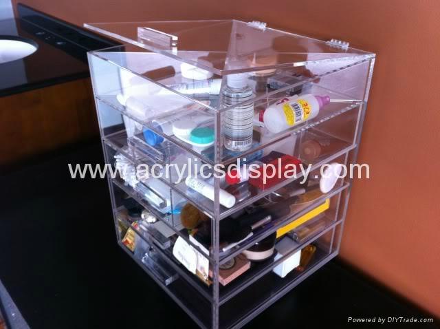 acrylic cosmetic organizer in storage boxes & bins