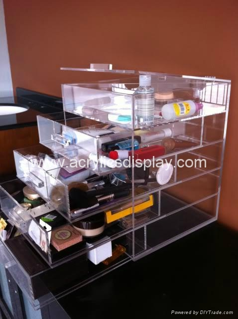 acrylic cosmetic organizer in packaging boxes