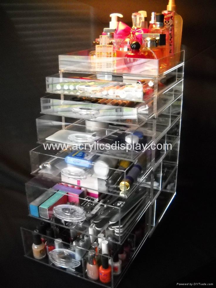 acrylic 7 drawer & clear cosmetic organizer