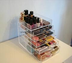 lucite acrylic makeup organizer box