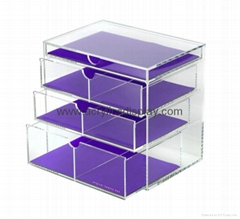 lucite acrylic cosmetic display cabinet shelf