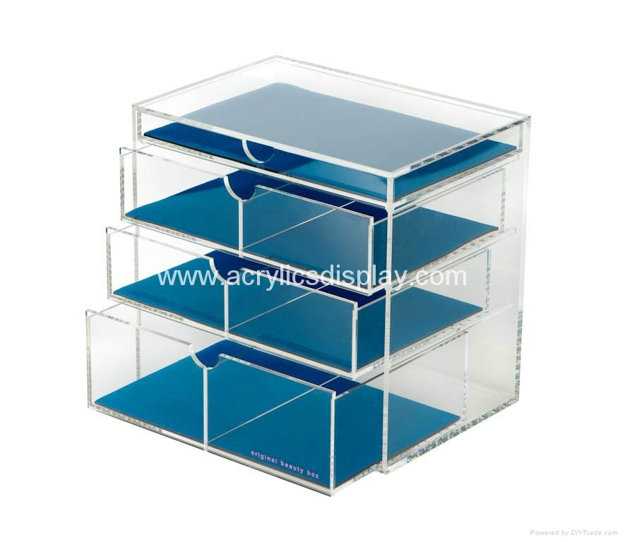 lucite acrylic cosmetic display cabinet