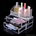 lucite acrylic makeup display