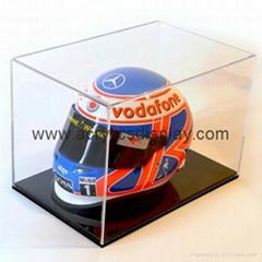 Half scale mini helmet acrylic display case