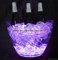 Lucite Acrylic LED ice bucket wine bucket