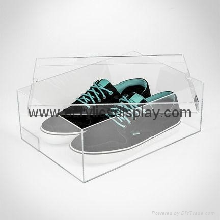 acrylic perspex shoes display box