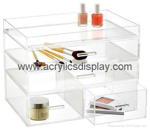 Hot seller perspex makeup organizer
