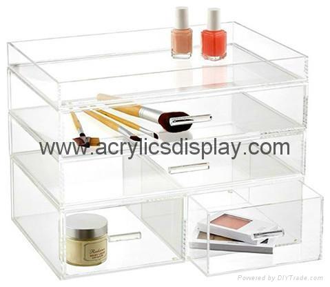 Hot seller perspex makeup organizer