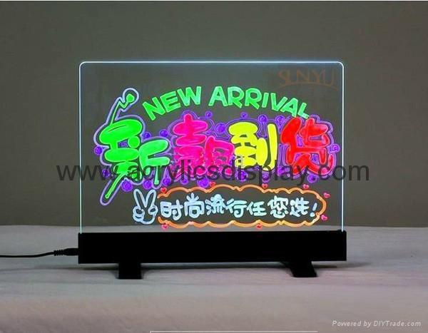 acrylic led menu stand