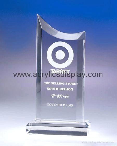 plastic acrylic glass trophy