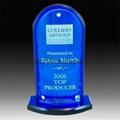 perspex acrylic blue trophy
