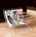 acrylic magazine rack magazine holder